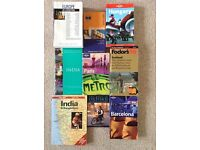 Collection of travel books