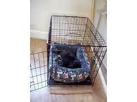 Small/Medium Puppy/Dog Double Door Crate