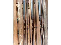 Shimano stradic 12ft 2.5lb tc X 3 carp fishing rods