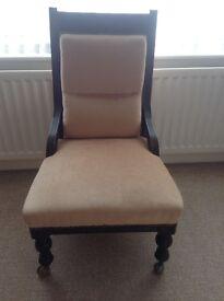 Victorian nursing chair for sale.