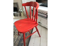 Red Shabby Chic Chair, 15 pounds each
