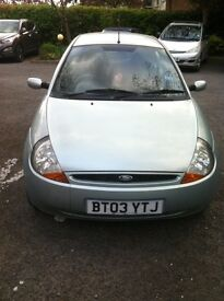Ford Ka. MOT Dec 2017. Reluctant sale by careful owner