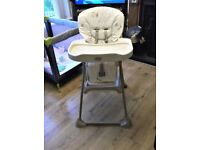FOR SALE HIGH CHAIR ALSO BABY WALKER AS NEW