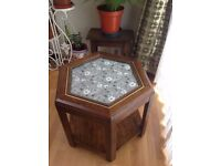 ***Hexagonal Glass Top Coffee Table***