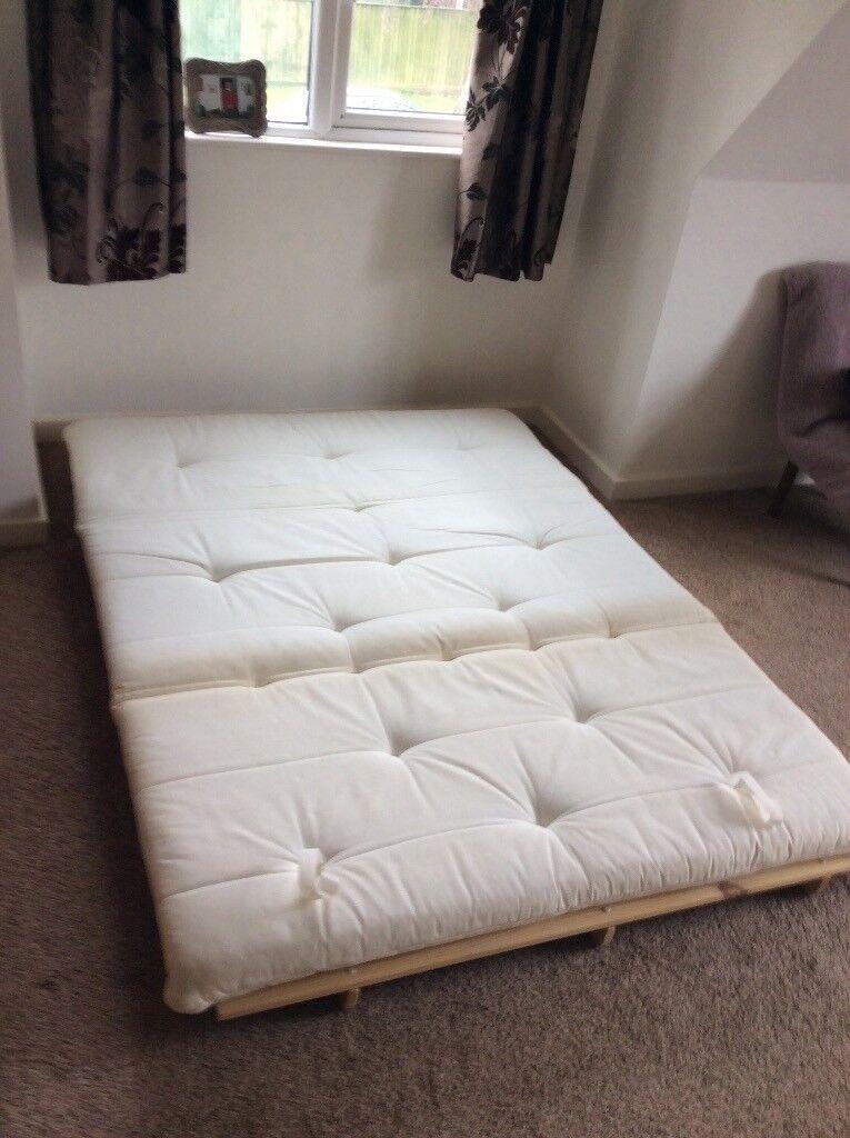 Double Futon Bed Sofa Plus Mattress Duvet