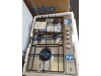 Beko 5 burner gas hob. Stainlss steel. £150. New/graded 12 month Gtee