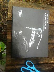 Professional corkscrew set new in box