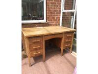 Old fashioned wooden desk