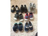 Never worn baby boy shoes bundle 0-3 months