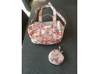 Brand new pink Cath Kids bag with a clip on purse.