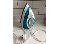 Russell Hobbs 15081 Steam glide iron- white and blue