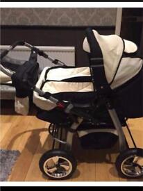 Twin/Double pushchair