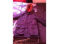 Burton menswear parka coat