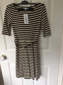 Black and cream New look dress with tags