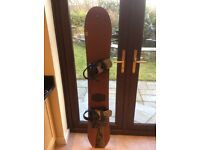 Snowboard with bindings 170 cm