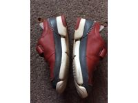 Clarks boys casual smart shoes red leather size 11F