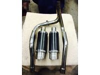 Suzuki bandit 1200 dual exhaust system,like new,sounds looks awesome, very expensive new