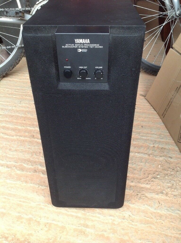 Data Yst Jobs No Experience | Yamaha Vintage Sub Woofer Yst Sw60 Hi Fi 80 Watt Powered Japan Built