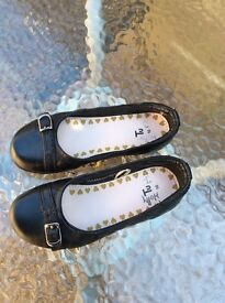 Girls school shoes size 10