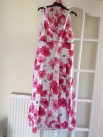 Roman Original pink flower dress with matching scarf
