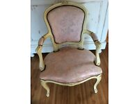 French fabric chair