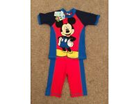 NEW Disney Mickey Mouse Swimwear 3-4 year