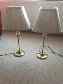 2 Brass Effect Table Lamps