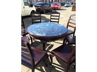 Chinese style table and 9 chairs