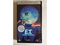 E.T. Video tape (VHS). Special Edition. Sealed, as new.