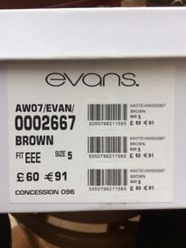 Evans Brown suede boots size 5