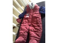 0-3 months Red and Blue Snow suit.