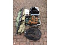 Various fishing equipment ready to go.