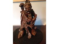 Chinese carving of old man