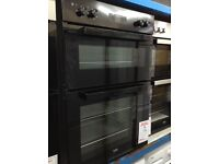 All black intergrated double oven. RRP £380