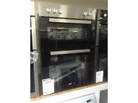 Beko intergrated 90cm built in double oven.stainles steel £230. New/graded 12 month Gtee