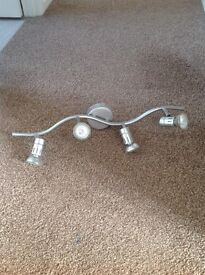 Light fitting in silver
