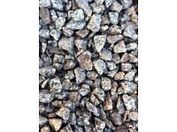 20 mm silver / pink granite garden and driveway chips/ stones/ gravel