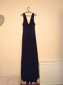 Floor length black ball dress (Size 16)