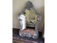 Mirror, Stunning Soft Silver Ornate