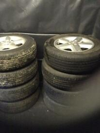 2003 and 2005 Nissan x trail wheels / tires 215/65/16 for sale