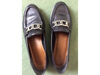 Women's Italian Leather Shoes, Leather Sole with Box, 41/7.5