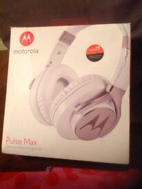 White Motorola Headphones