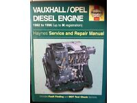 Haynes Workshop Manual For Vauxhall/Opel Diesel Engine 82-96