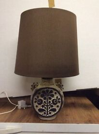 Table lamp with ceramic base. As new.