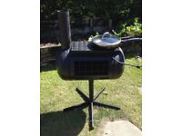 Wood burner patio heater