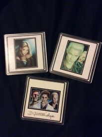 Duncan Gutteridge signed coasters illustrations from Buffy the Vampire Slayer