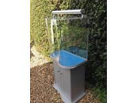 Fish tank, light and stand for sale