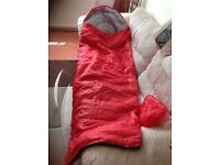 BRAND NEW RED & GREY MUMMY STULE ADULT SLEEPING BAG