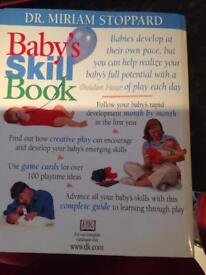 Baby's skill book and cards