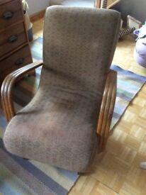 antique rocking armchair